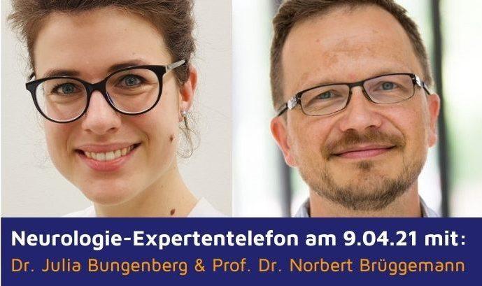 Expertentelefon für Patienten am 9. April (u.a. zu Parkinson)